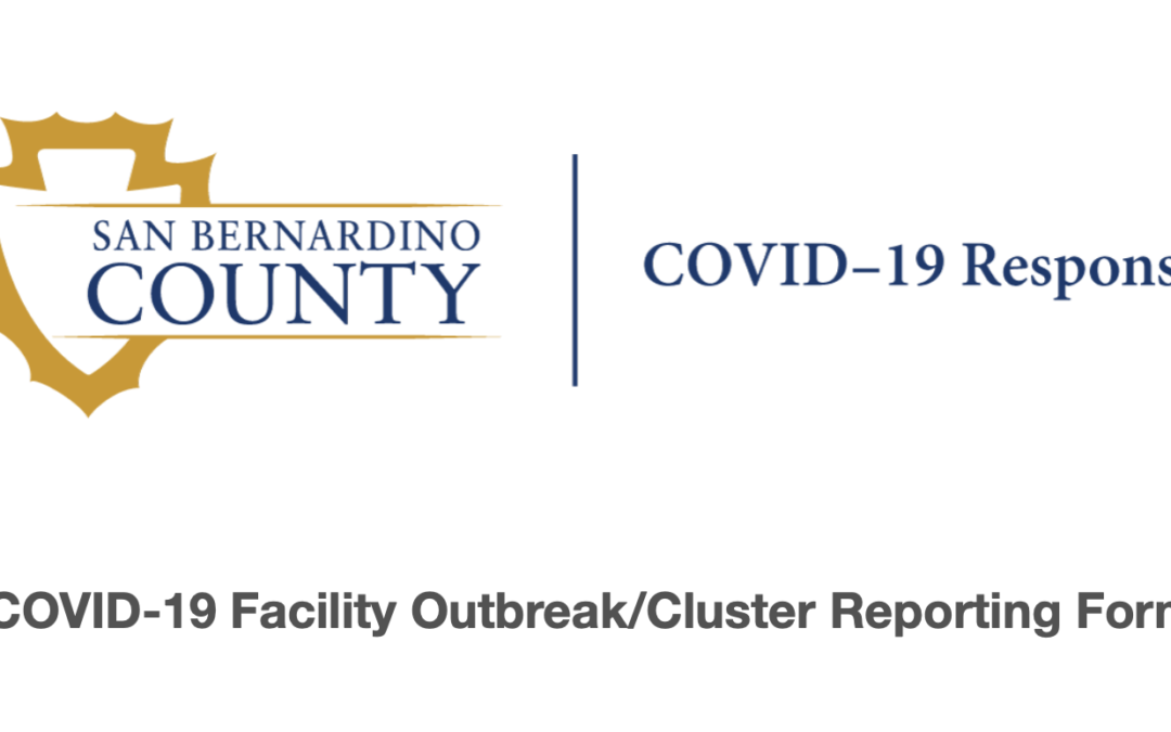 San Bernardino County Launches COVID Outbreak Business Form